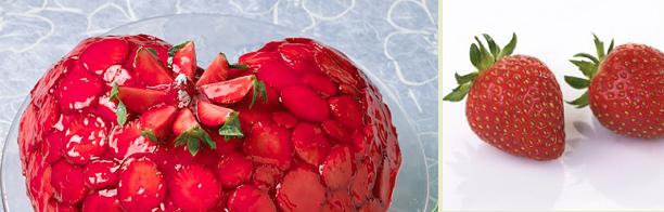 Kjærlighetskake med jordbær