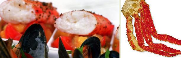 Peppergrillet kongekrabbe